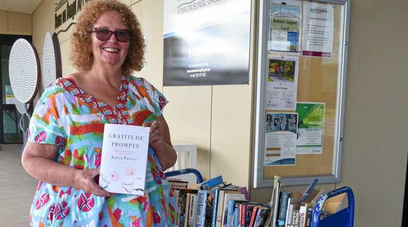Karen Purves with her new book Gratitude Prompts.