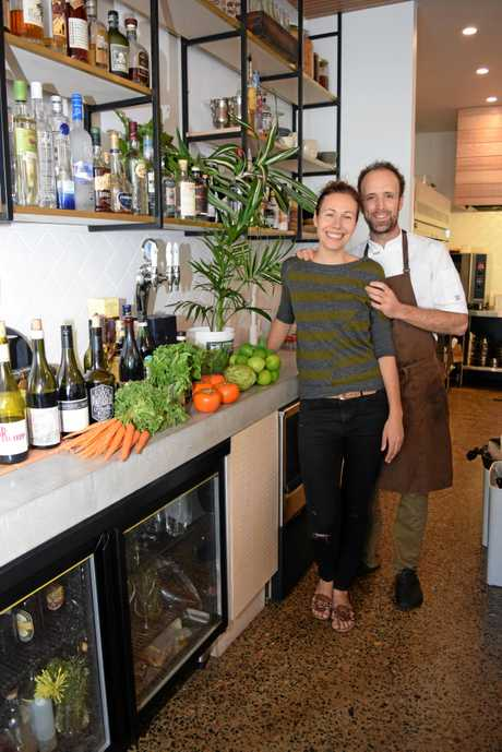 FIRST FLEETERS: Owners of new Brunswick Heads restaurant Fleet, Astrid McCormack and Josh Lewis.   Photo Christian Morrow / Byron Shire News