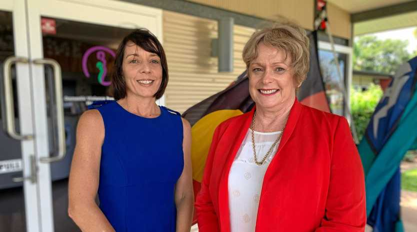 HELPING FAMILIES: Labor candidate for Dawson Belinda Hassan with Dr Anne Butcher from Mackay Women's Services.