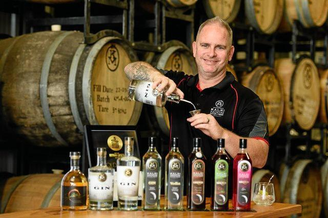A GOOD DROP:  Owner of Kalki Moon Distilling and Brewing Company, Rick Prosser