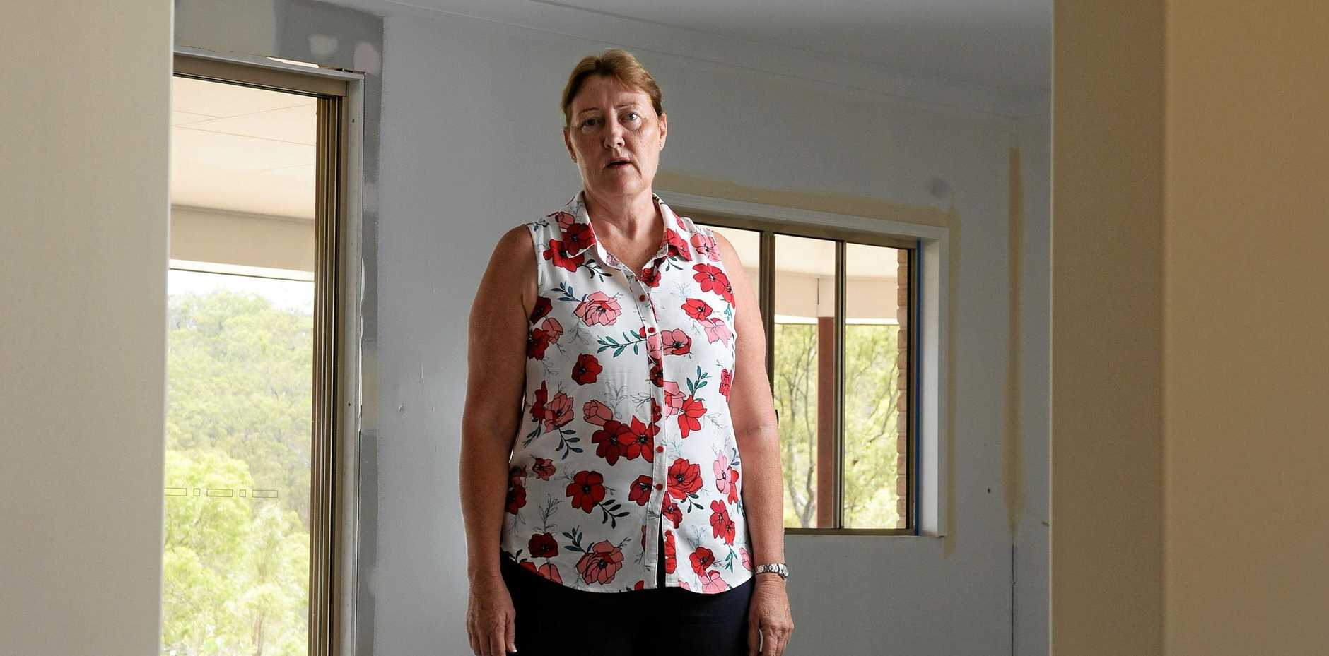hOME BUILD HORROR: Peggy Hockey's life us slowly returning to normal after the collapse of G.J Gardner homes at North Ipswich.