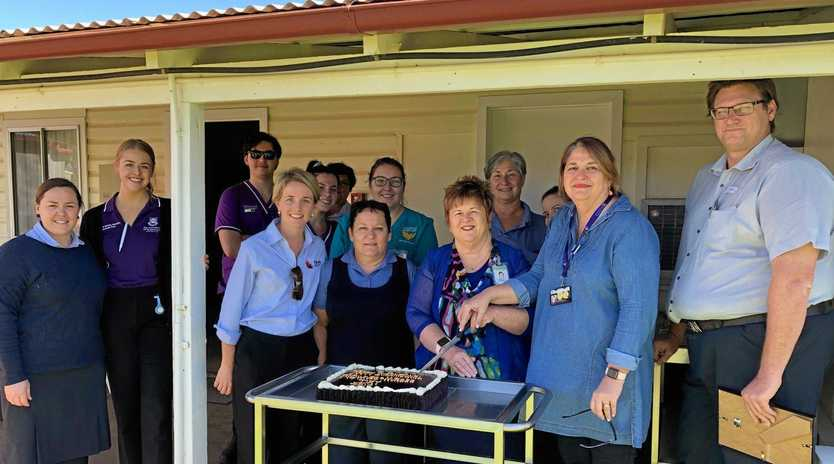 CARING: Nurses and students celebrate International Nurses Day at Charleville Hospital.