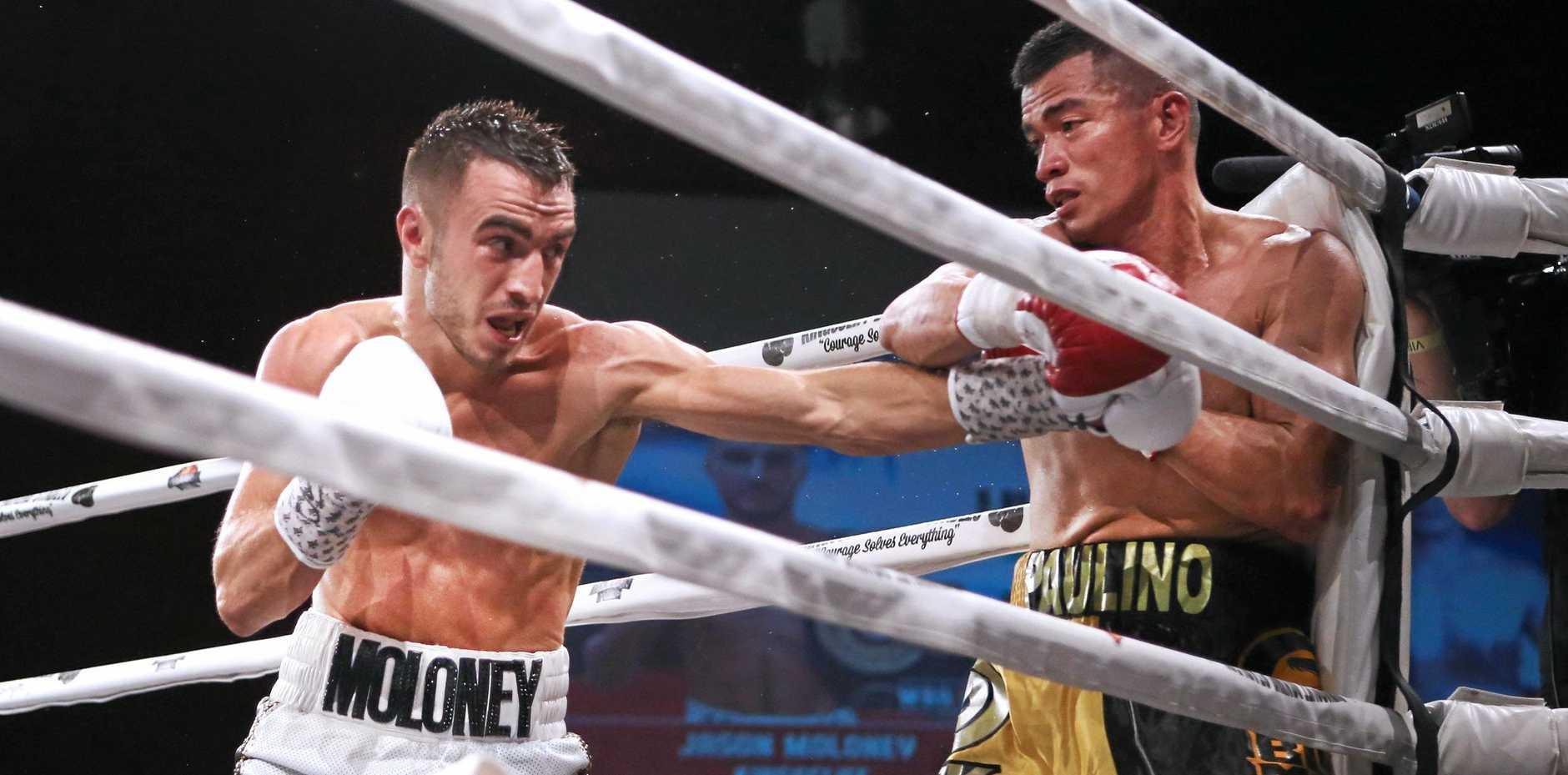 TITLE FIGHT: Jason Moloney (left) will fight Mexican Cesar Ramirez next month.