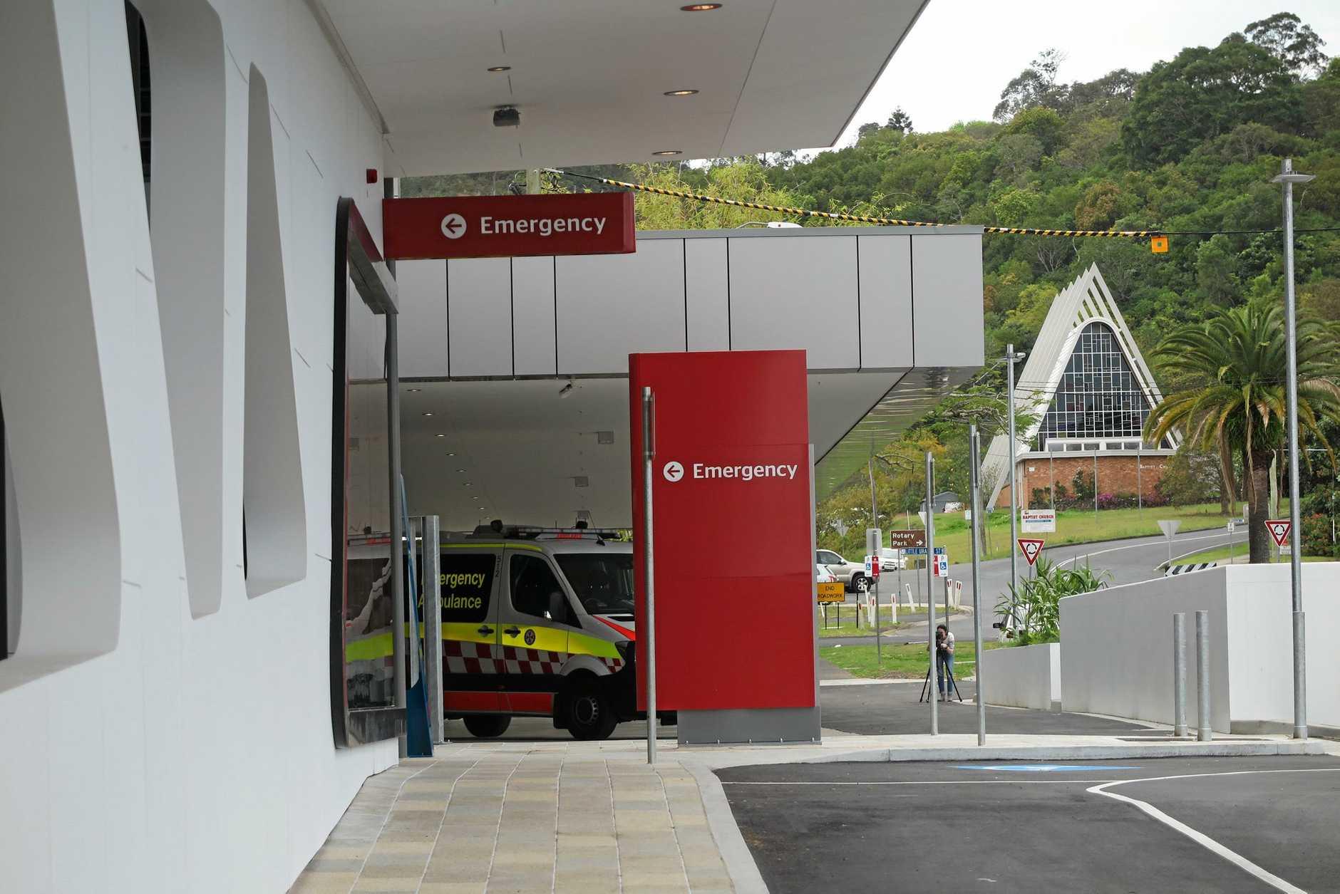 Lismore Base Hospital's emergency department.
