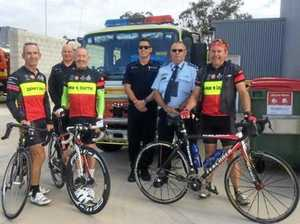 Look out for emergency services pedalling through region