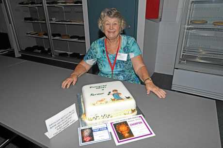 Gympie Show cake decorating champion Anne Long.