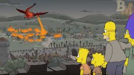 A Simpsons episode in 2017 played out a similar Battle of King's Landing. Picture: Fox