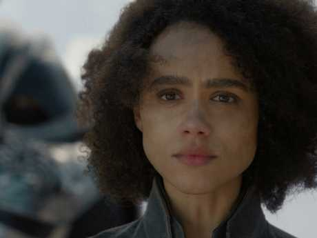 As one of just two non-white main characters, Missandei's death in shackles was a major let-down for both fans and actor Nathalie Emmanuel. Picture: Courtesy of HBO