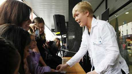 Australia's Got Talent winner Jack Vidgen, 14, signing autographs at Myer.