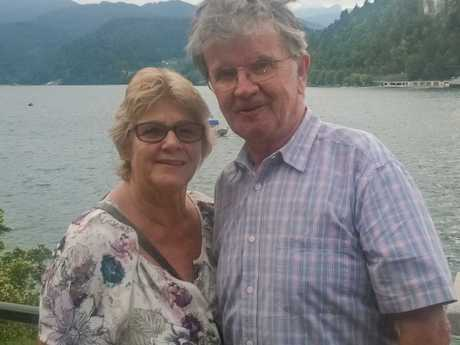 Christine and John Rose at Lake Bled in Slovenia. Picture: Supplied