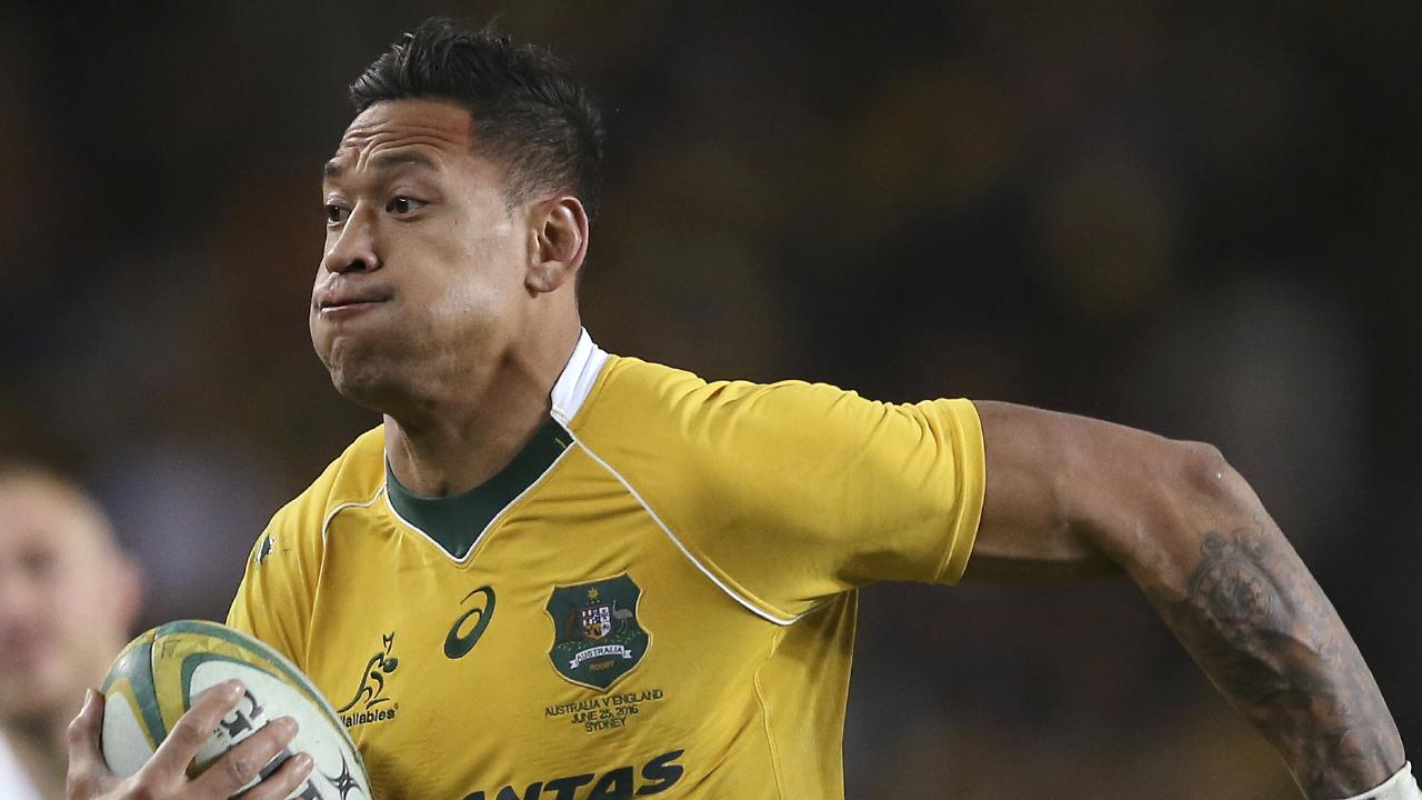Israel Folau's rugby career is in the balance. Picture: AP