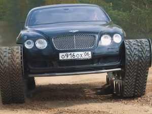 Mechanics trash luxury Bentley Continental coupe
