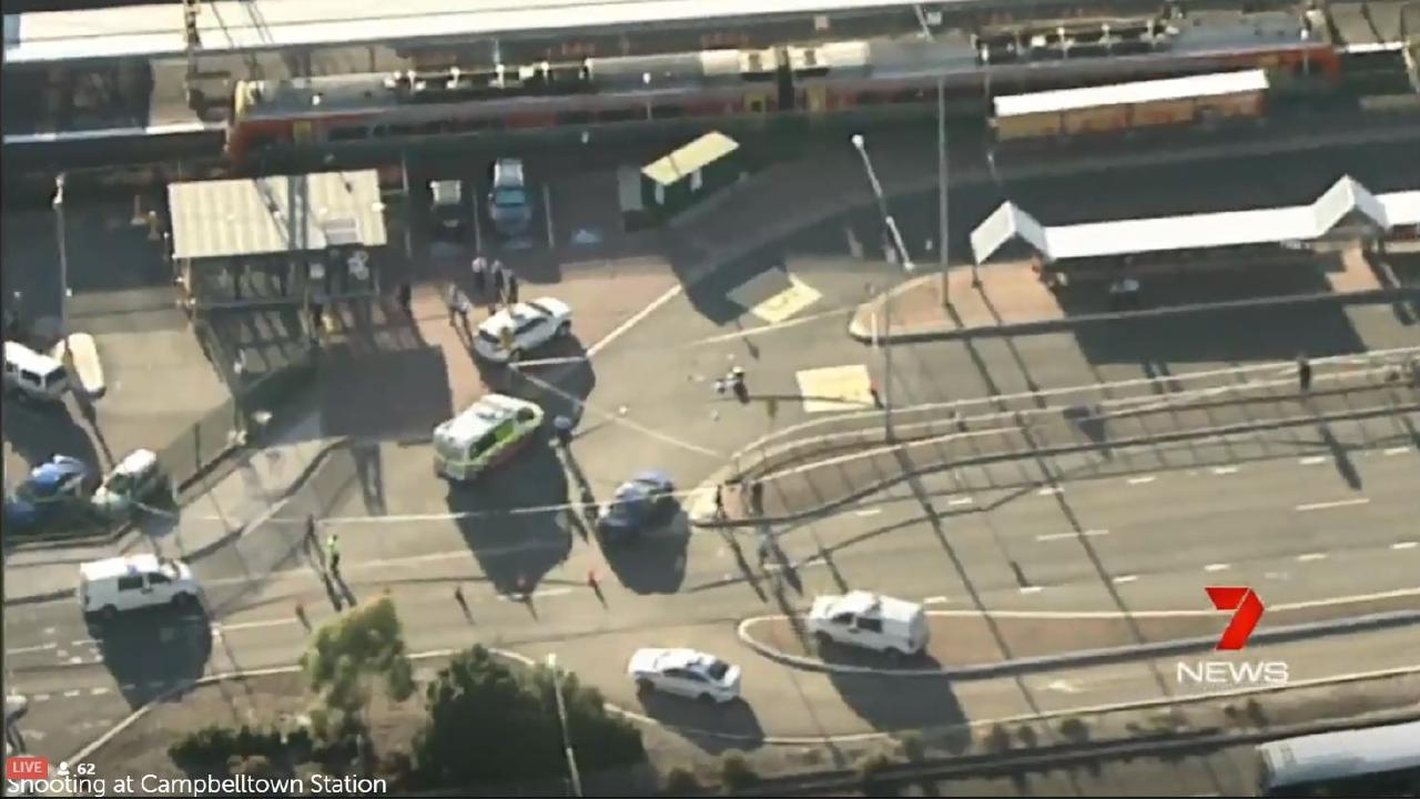 A man has been shot by police at Campbelltown train station, according to reports. Picture Channel