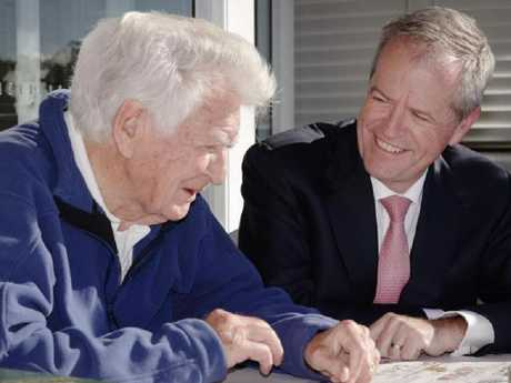 Bob Hawke and Bill Shorten today. Picture: Supplied