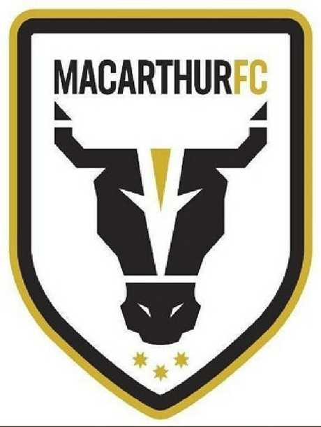 Macarthur FC logo will be a bull and their colours black, white and ochre.