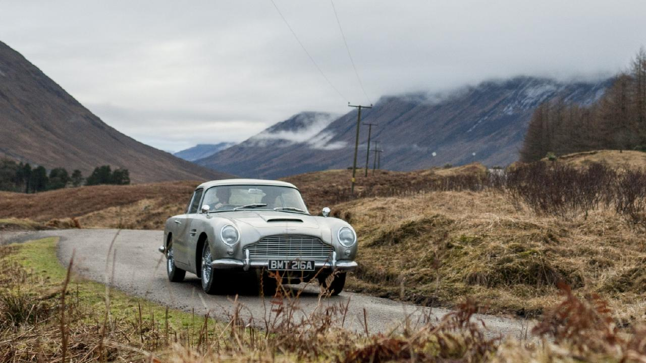 The Aston Martin DB5 in Skyfall.
