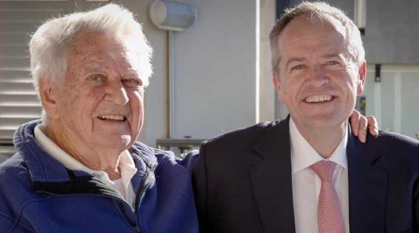 Bob Hawke and Bill Shorten. Picture: Supplied