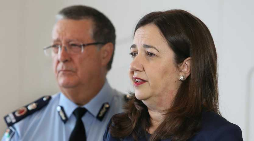 Premier Annastacia Palaszczuk and Police Commissioner Ian Stewart in February before the full extent of the juvenile detention crisis became known.