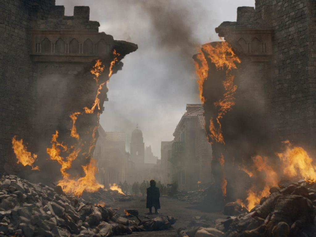 The special effects looked incredible during the razing of King's Landing, but social media critics complained it didn't feel believable within the show's reality. Picture: Supplied/ HBO