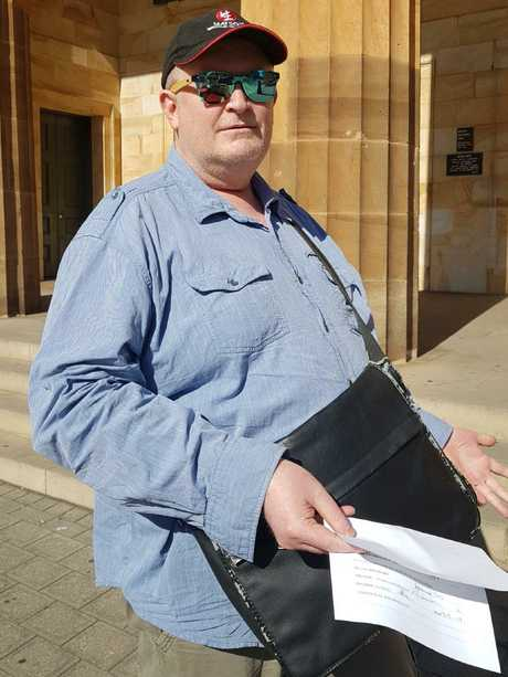 David Adamson has jail for sending threatening messages containing bomb emojis to a woman he thought was his estranged mother.