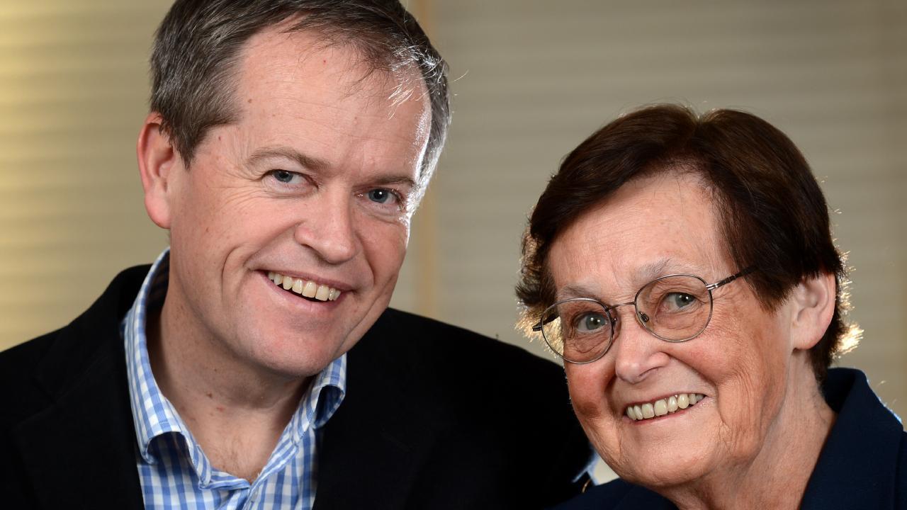 Shorten and his inspirational mum Ann Shorten.