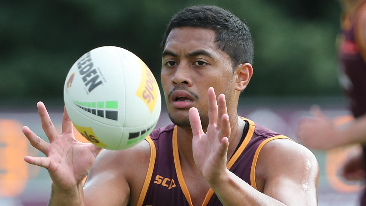Anthony Milford. The Brisbane Broncos training at Red Hill. Pic Peter Wallis