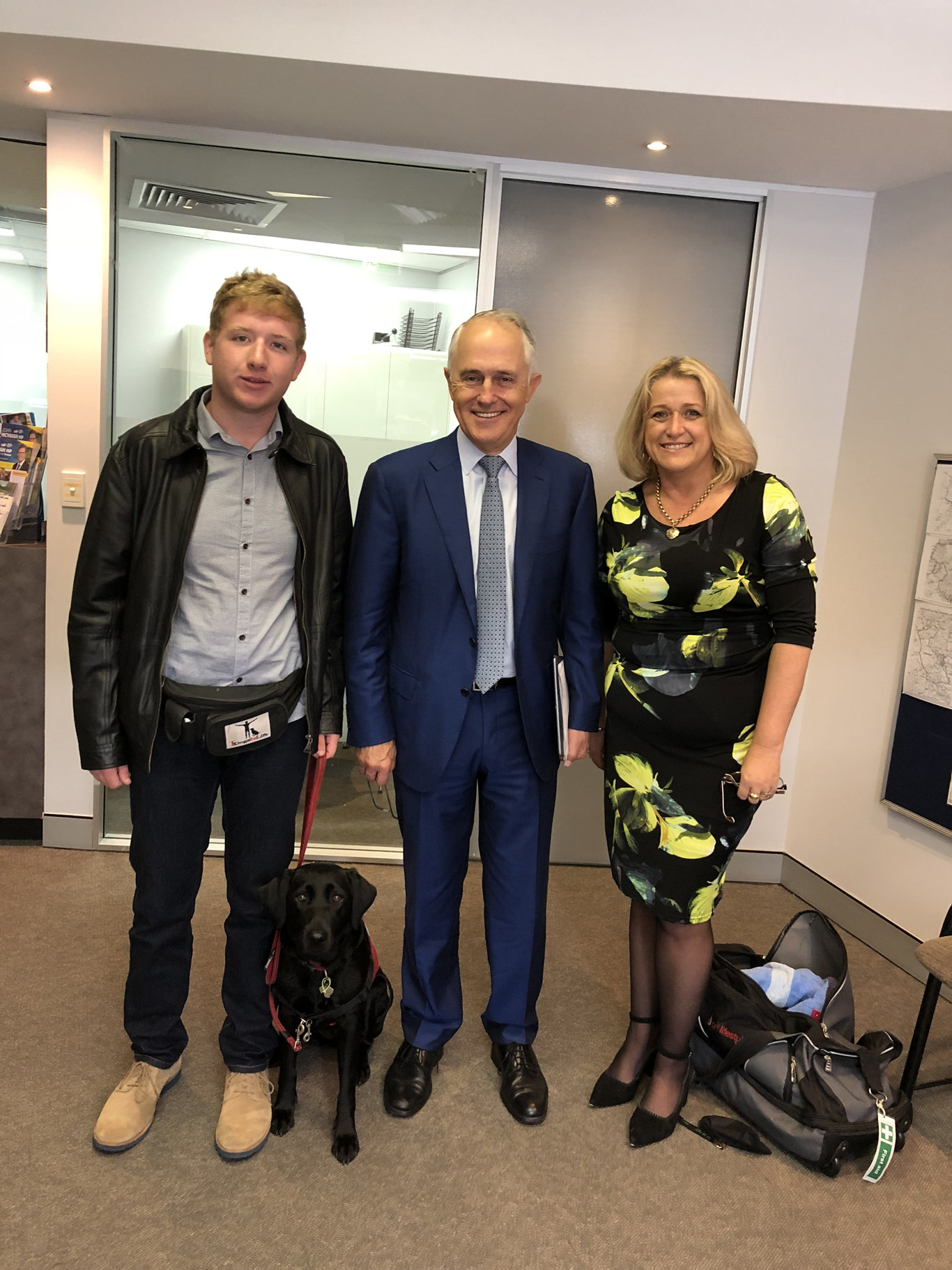 Toowoomba's Lachlan Miles and his mother Rhonda met with then-Prime Minister Malcolm Turnbull to try to resolve the family's issues with the NDIS.