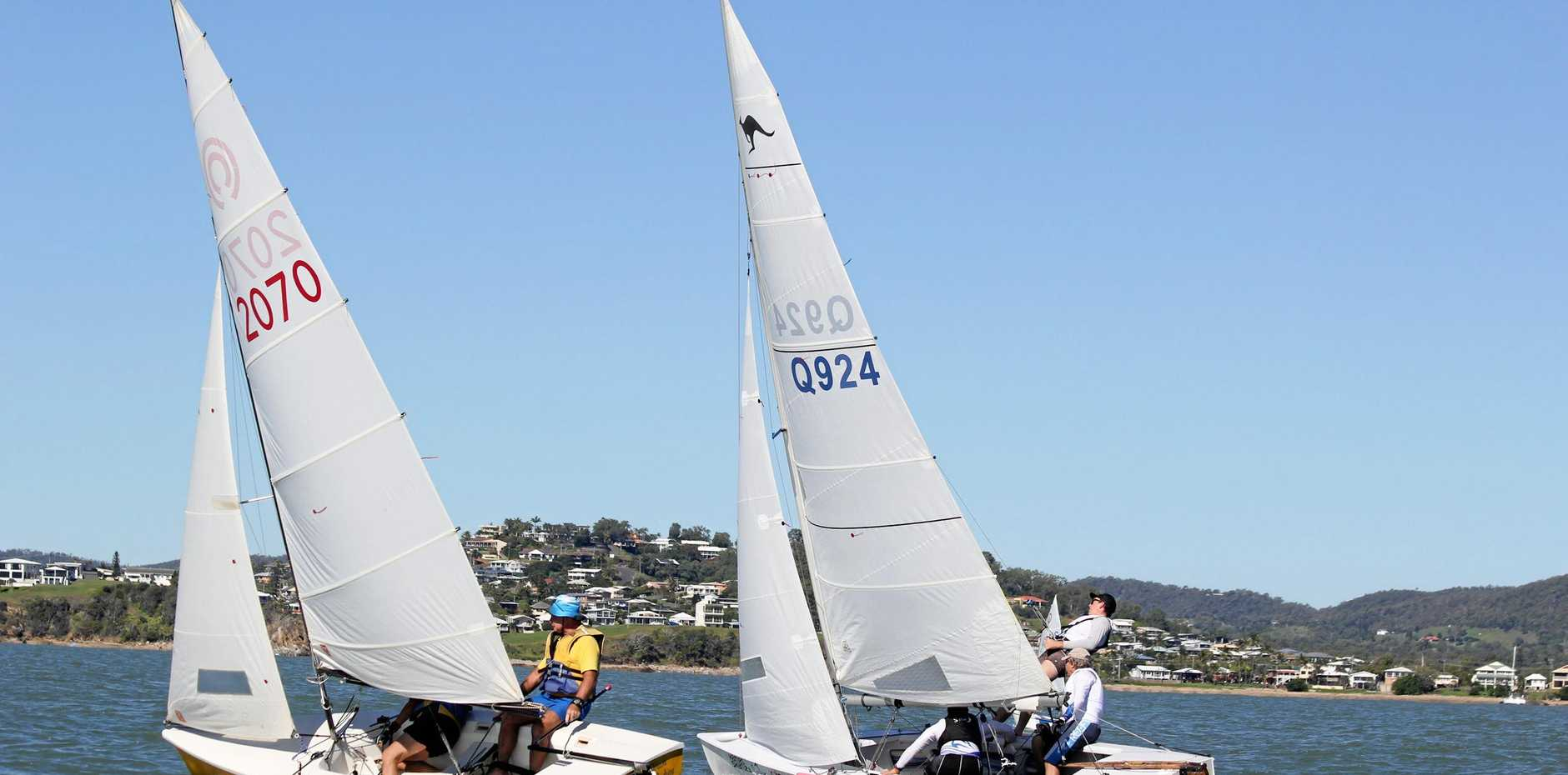 CLEAR SAILING: Sailors battled it out on Keppel Bay at the May Day regatta.