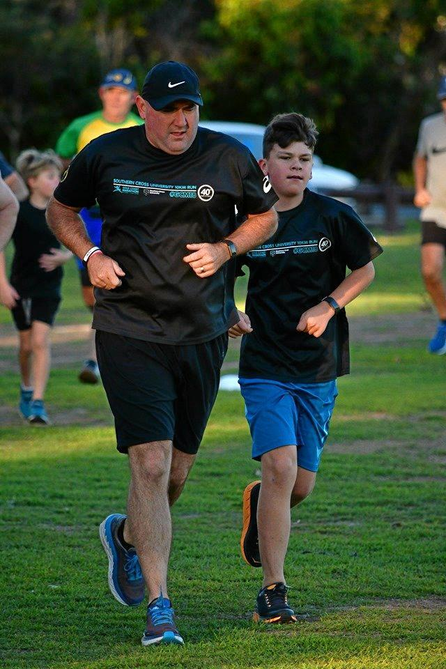 Father and son Dallas and Luke Leven ran a PB together in 26:19 at Grafton Parkrun at Barnier Park, Junction Hill on Saturday, 11th May, 2019.