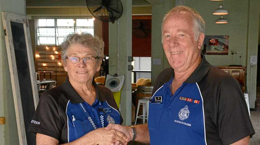 GOOD ON YOU: Greta Brady welcomes new volunteer, Rod Laylee to the VIP program.