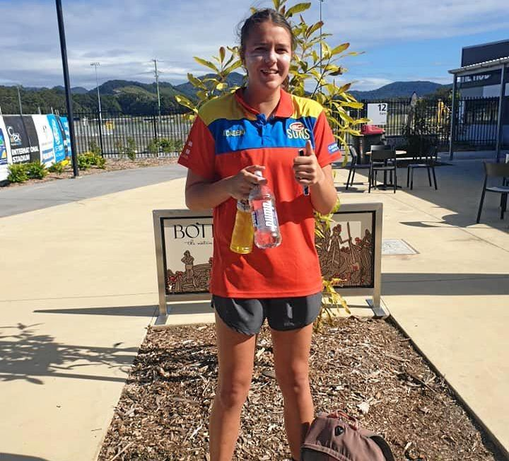 Mackay City Hawks player Lily Tarlinton was named in the Queensland Under-18 Aussie rules squad alongside fellow Mackay product and former teammate, Wallis Randell.