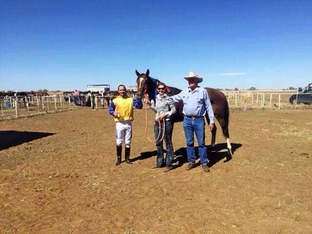 WINNERS: Raymond Williams, Tracey Leake and horse Hayyler's Element.