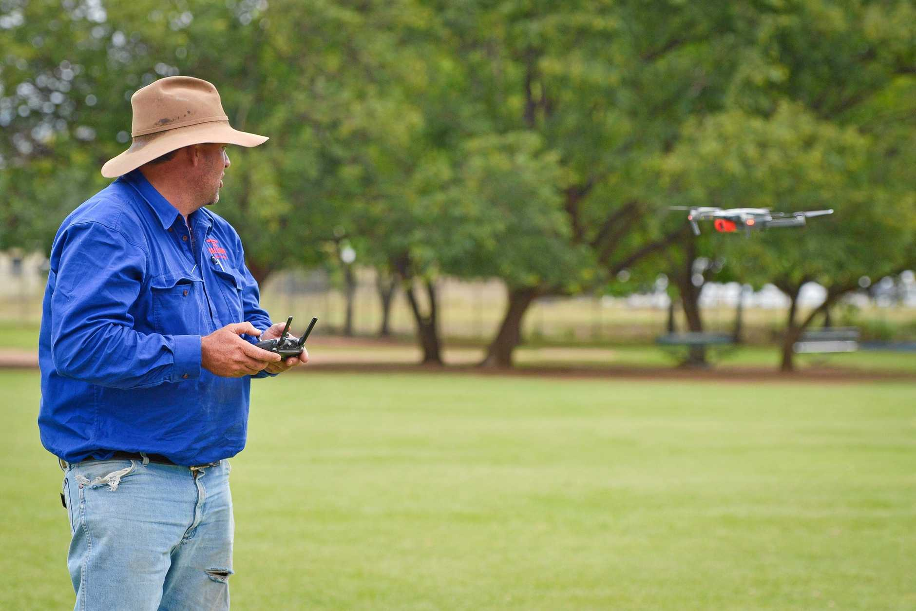 Will Wilson from Calliope Station uses his DJI Mavic to muster stock.
