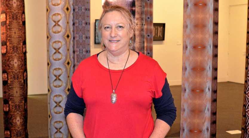 Art director Karina Devine at Warwick Art Gallery