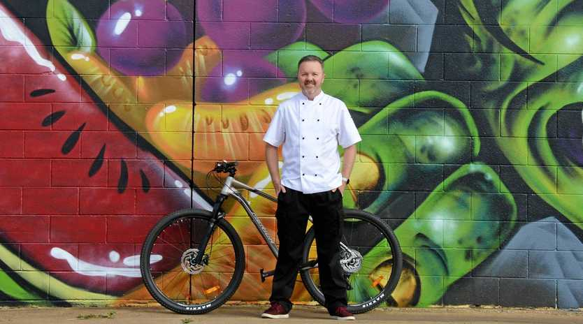 Jason Ford has is hitting his bike to promote his new event combining two of South Burnett's biggest tourist attractions.