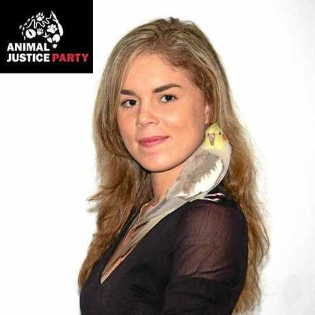 AJP: Amy Byrnes is the Hinkler candidate for the Animal Justice Party.