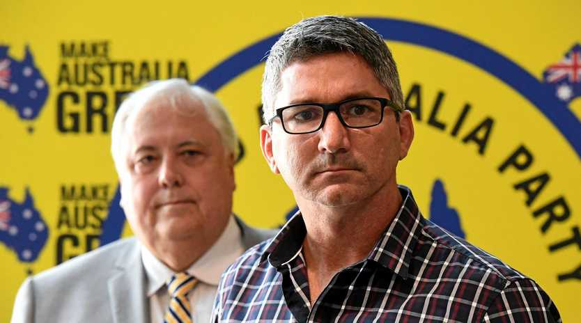 Hinkler's UAP candidate Joe Ellul (pictured) and Wide Bay candidate Andrew Schebella (inset) have failed to answer questions about Mr Palmer's election spend