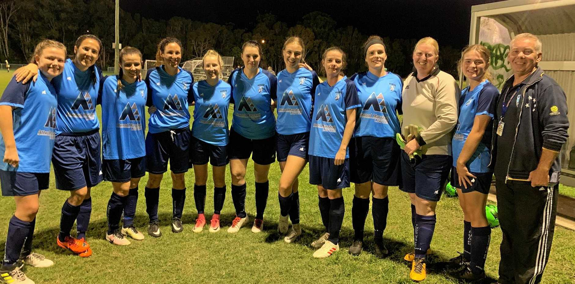 Attwood Marshall Tweed United Metro North side following their win over Canungra.