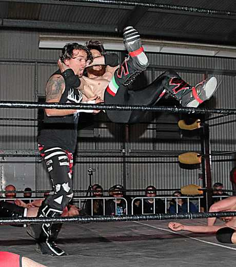 See the stars of Ipswich's New Valhalla Wrestling after the fireworks each night