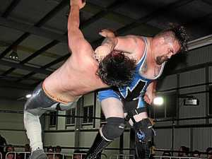 High flying Wrestling action at Ipswich Show
