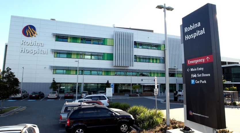 The incident took place at Robina Hospital last week.