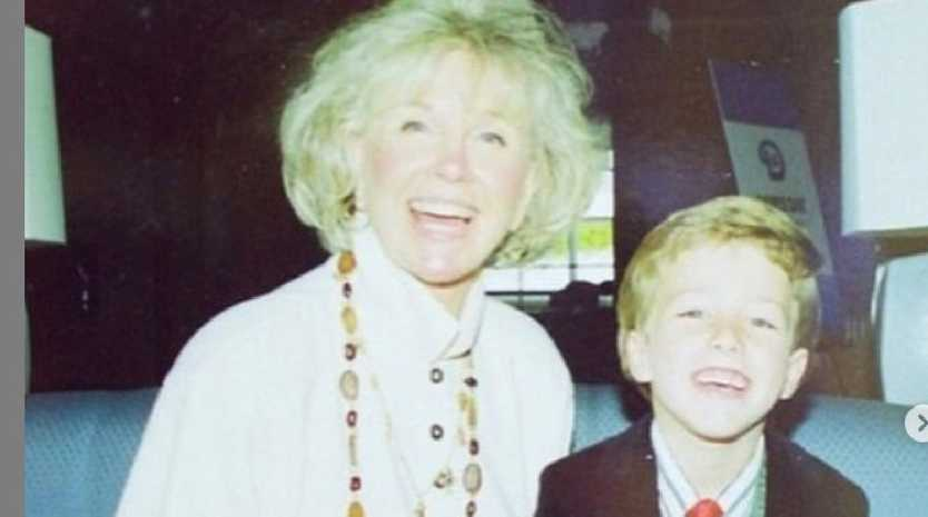 The late Doris Day in a photo with her young grandson.