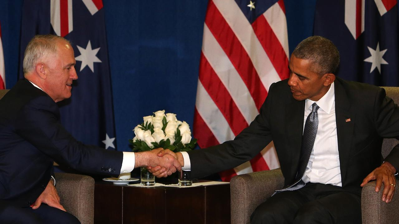 The swap deal was organised between Malcolm Turnbull and the Obama administration. Picture: Kym Smith