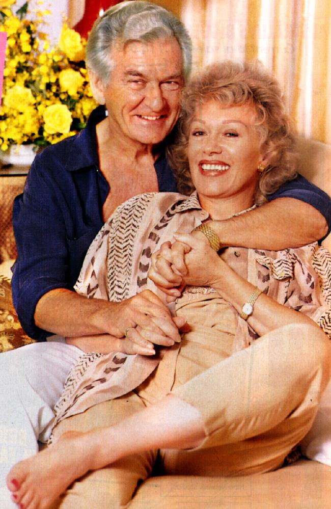 Bob Hawke with his second wife Blanche d'Alpuget.