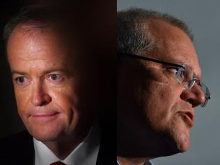 Bill Shorten and Scott Morrison