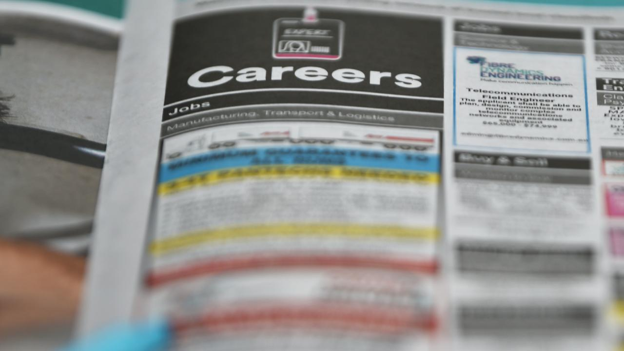 The number of job advertisements placed in all media typically falls before an election and around public holidays. Picture: AAP