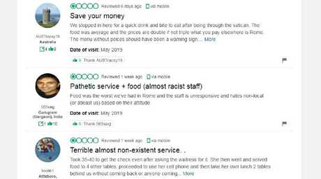 Diners were unhappy with the restaurant. Picture: TripAdvisor