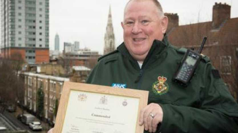 Andrew Beasley worked for the London Ambulance Service during the London Bridge terror attack. Picture: Supplied