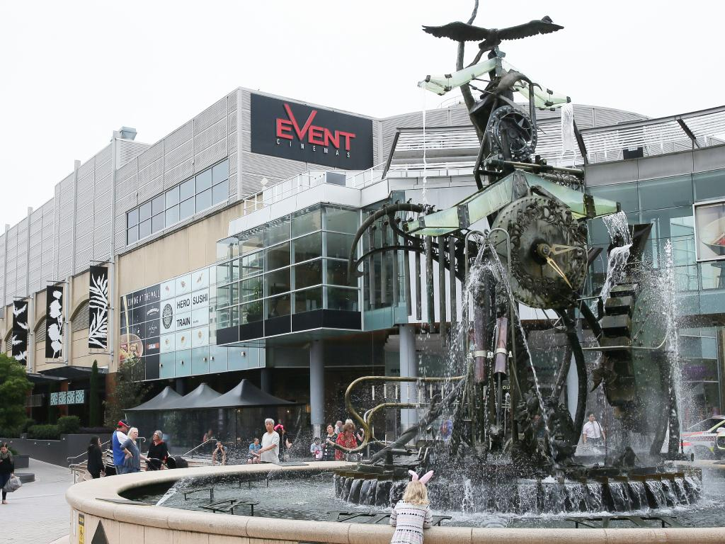 The woman met the girls at the fountain at Hornsby mall (pictured above, in a generic photo). Picture: Adam Ward