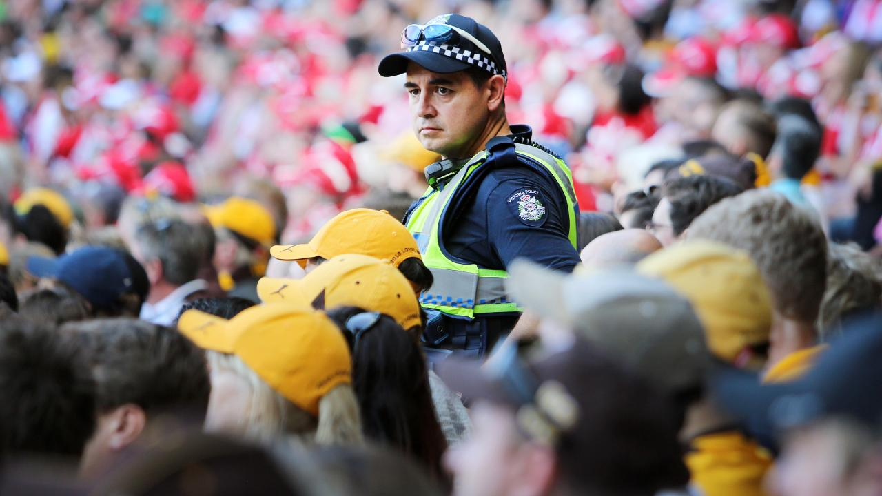 Police and the AFL are becoming increasingly concerned about violence at the MCG. Picture: Nathan Dyer